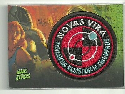 2013 Topps Mars Attacks Invasion Patch MP-14 Operation Earth Short Print SP