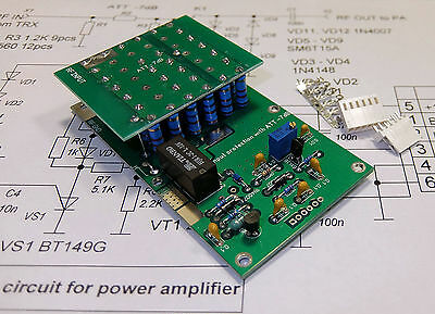Input protection unit with ATT -7dB LDMOS and MOSFET, RM Italy amplifiers