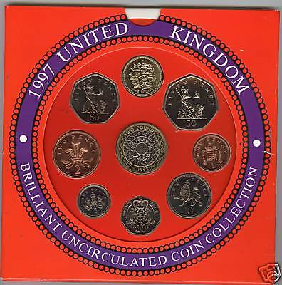 1997 Brilliant Uncirculated Set Of 9 Coins
