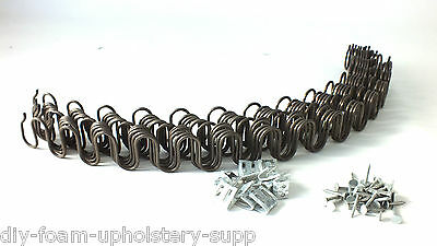 "x5  26"" UPHOLSTERY ZIG ZAG METAL SOFA CHAIR SETTEE SPRINGS REPLACEMENT"
