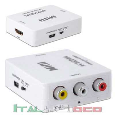 Mini Convertitore RCA CVBS Composito AV a HDMI Audio Video Converter AV2HDMI