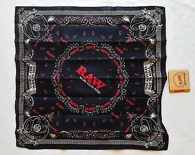 """Limited Edition RAW The Natural Way to Roll Rolling Papers Bandana 21.5"""" X 21.5"""""""