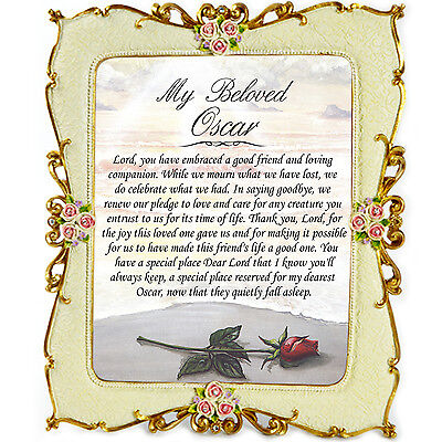 Cat Memorial Gift Frame - In Loving Memory, Tribute, Thinking of You, Plaque