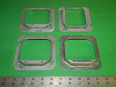 "Lot of 4 Crouse-Hinds TP584 Mud-Ring 4-11/16""inch Square 1/2""inch Raised"
