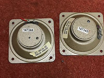 Pair lovely DECCA Decola (Celestion ?) tweeters with small cone repair (146344)