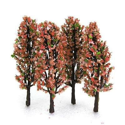 20 Flower Trees Model Train Railroad Forest Diorama Scenery Layout Z Scale