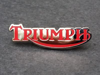Triumph Motorrad Pin rot Trident Sprint Daytona Speed Trophy Tiger Bonneville