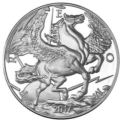 2017 1 Oz Pegasus Silver Round - .999 Fine Silver - Freedom - Modern Ancients