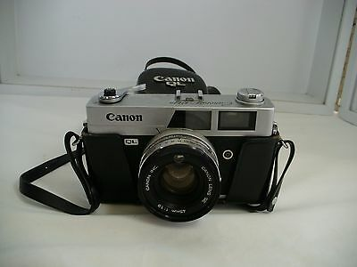 Canon Canonet QL19 35mm Film Rangefinder Camera 45mm F1.9 w/case