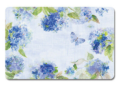 Placemats Vinyl Place Mats Table Linens Garden Party Ideas Hydrangea Blue 8