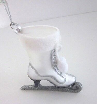 Silver Skate Ornament Christmas Shoe Tree