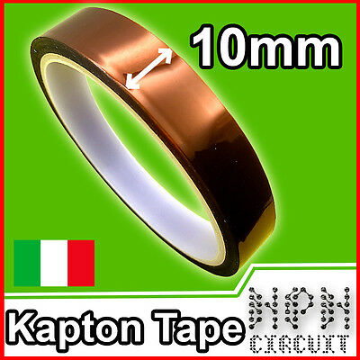Nastro Adesivo ALTA TEMPERATURA 1cm 10mm*30Mt KAPTON High Temperature Tape