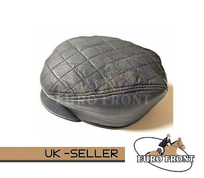 100% Real Leather Flat Cap Stylish Top Quality Low Price