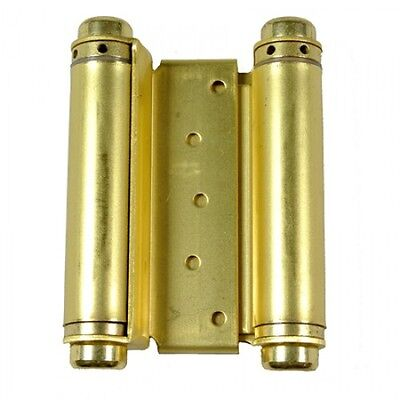 """Door Hinges  2 pcs 6"""" Inch Double Action Spring Hinge Saloon Cafe Western Brass"""
