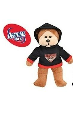 Official AFL Beanie Kid - Eric the Essendon Bombers Bear 2015 with Hoody - BNWT