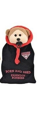 Official AFL Beanie Kid - Eric the Essendon Bombers Bear 2015 with Onesie - BNWT