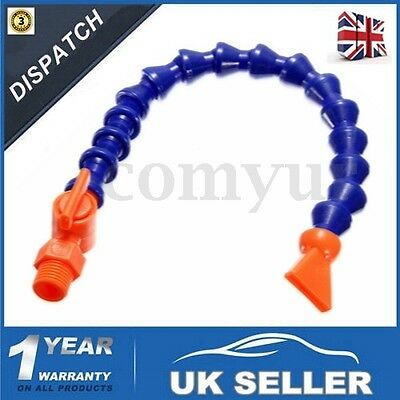 "1/4"" Flat Nozzle + Plastic Flexible Oil Water Coolant Pipe Hose Lathe CNC Switch"