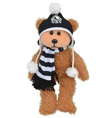 Official AFL Beanie Kid - Layts the Collingwood Magpies Bear w Scarf 2014 - BNWT