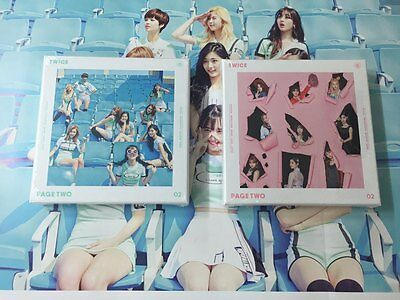TWICE 2ND MINI ALBUM - PAGE TWO CD+ 3photocard+photobook+ free shipping