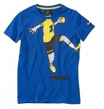 Kempa Cartoon Player T-Shirt, Kinder, blau
