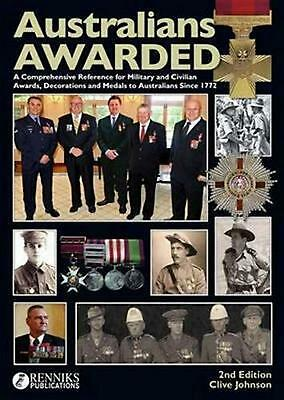 Australians Awarded by Clive Johnson Hardcover Book (English)
