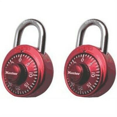 Master Lock 1530T Combination Padlock, Bright Metallic (assorted colors) 2-Pack