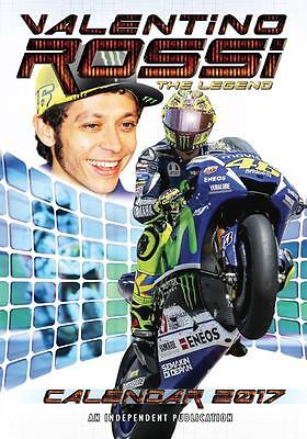 Valentino Rossi 2017 Large Size Wall Calendar Brand New And Factory Sealed