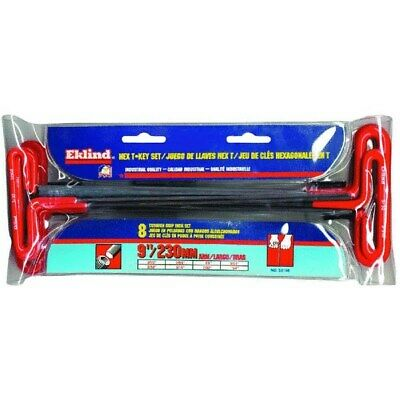 8-Piece 9 Arm T-Handle Hex Key Set by Eklind Tool Co