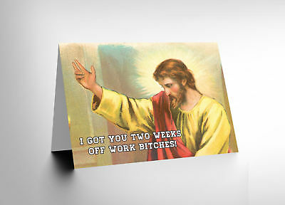Card Alternative Christmas Xmas Jesus Adult Funny Humour Cl1508