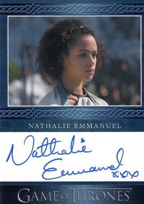 GAME OF THRONES Season 4 Nathalie Emmanuel Missandei Autograph Card