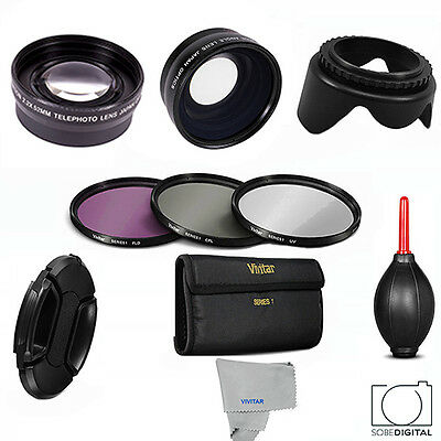 49Mm Wide Angle Lens + Telephoto Zoom Lens + Filter Kit For  Dsc-Rx1