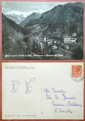 Valle d'Aosta - Gressoney St. Jean - Panorama 1983