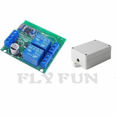 Diymall 2 Channel Relay Module Bluetooth 4.0 BLE for Android Apple With Shell