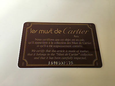 CARTIER - LES MUST DE CARTIER - Certificate Card - For Collectors