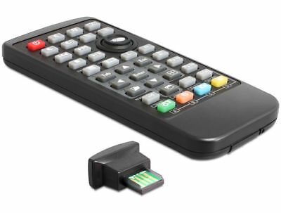 Delock Universal Remote Control with Infrared Receiver ideal for Windows PC