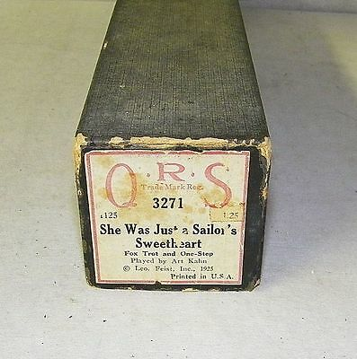 Vintage QRS Player Piano Word Roll She Was Just A Sailor's Sweetheart 3271 RARE