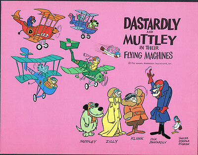 Hanna Barbera STYLE GUIDE PLATE - DASTARDLY & MUTTLEY in Their FLYING MACHINES