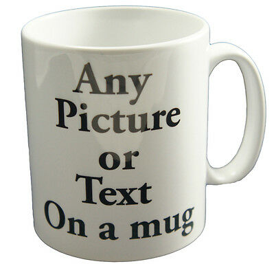 Cute Personalised Custom Printed Gift White Tea Coffee Mug YOUR IMAGE PHOTO TEXT