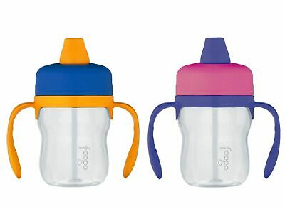 NEW THERMOS FOOGO 235ml TRITAN SIPPY CUP WITH HANDLES Drink Bottle PINK OR BLUE