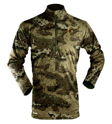 Hunters Element Prime Winter Long Sleeve Zip Thermal Hunting Top Veil Camo