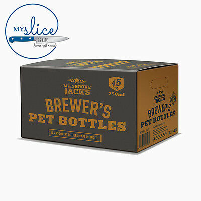 Mangrove Jack's PET Brewing Bottles & Caps(15 Pack)  - Home Brew