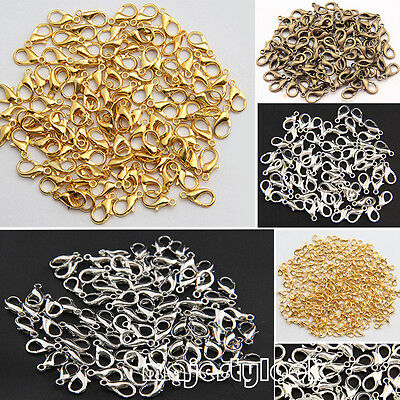 50Pcs Plated Jewelry Necklace Parrot Lobster Clasp Claw Buckle Hook Finding Kit