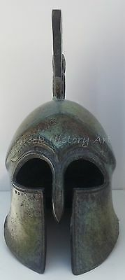 Bronze Spartan Helmet with owl (symbol of  goddess Athena)