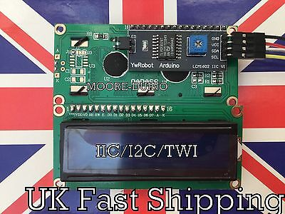 ✨ Serial LCD 1602 16x2 Module with IIC I2C TWI Adapter For Arduino Raspberry Pi✨