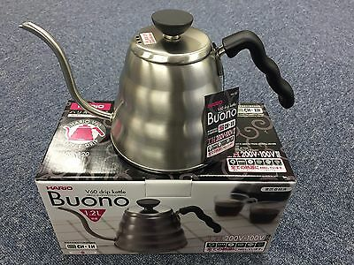 New Hario V60 Buono Coffee Drip Kettle 800ml 1,200ml VKB-120HSV MADE IN JAPAN