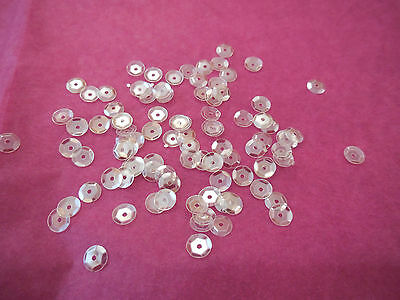 Bridal Wedding Ivory Hologram Round Cupped Sequins 6mm approx 1700 per pack 20g