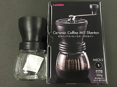 New Hario Ceramic Coffee Mill Skerton Storage Capacity 100g MSCS-2B from JAPAN