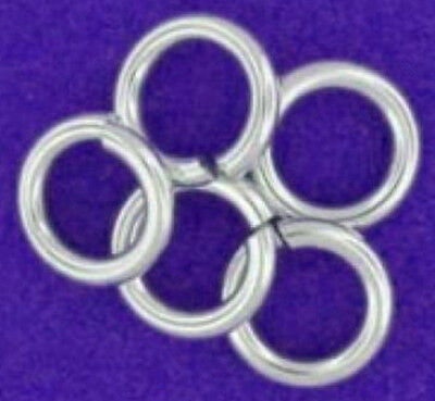 5 Extra Strong Heavy Sterling Silver Open Jump Rings, 5 Mm, 1 Mm Wire