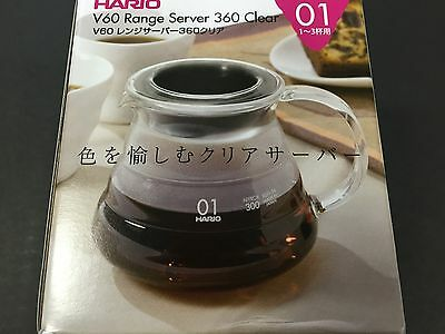 Hario V60 Range Coffee Server XGS-36TB Clear 360ml 01 1 - 3 Cups MADE IN JAPAN