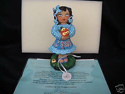 "TINY TUMMIES Doll 7""  Figurine In Resin By Pat Kolesar 1315/5000 Girls 7 + NIB"